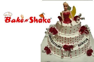 BARBIE DOLL CAKE 5