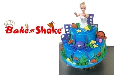 DOUBLE FLOOR MERMAID CAKE