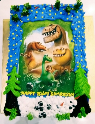 Dinosaur photo cake