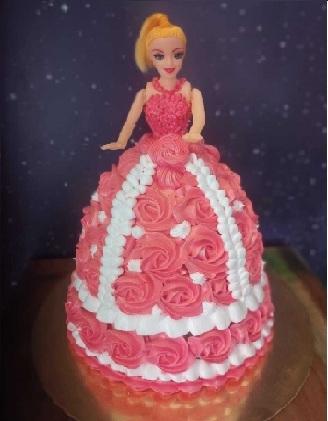 BARBIE DOLL CAKE 10