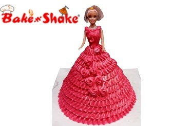 BARBIE DOLL CAKE 9