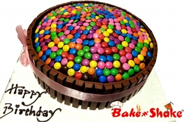 KITKATE AND GEMS CAKE