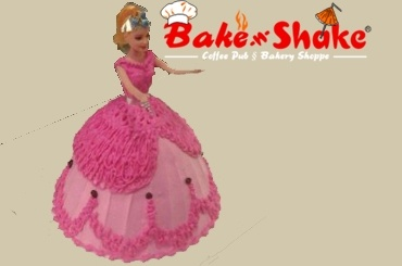 BARBIE DOLL CAKE 7